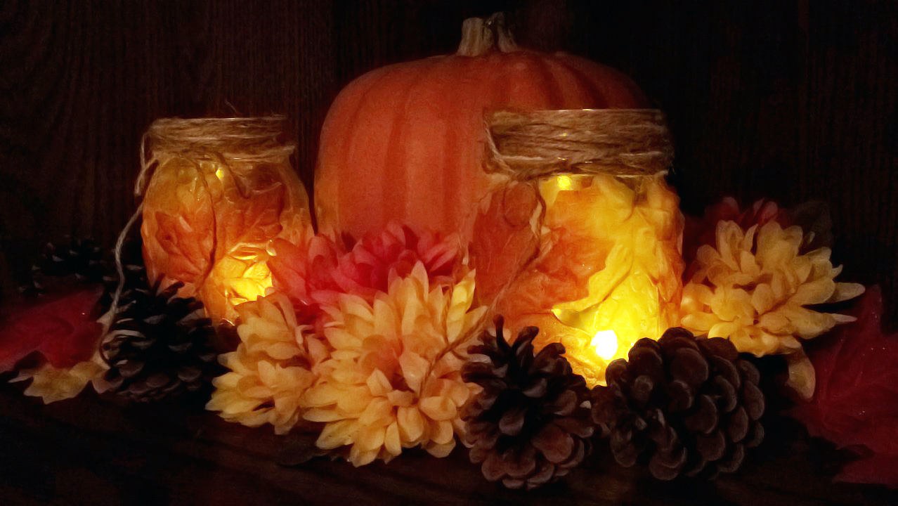 DIY - Fall Maple Leaf Mason Jar