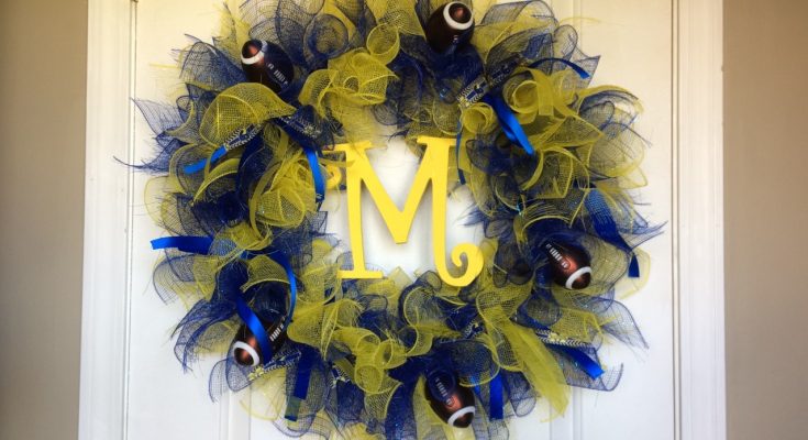 DIY - Michigan Wolverine Deco Mesh Wreath