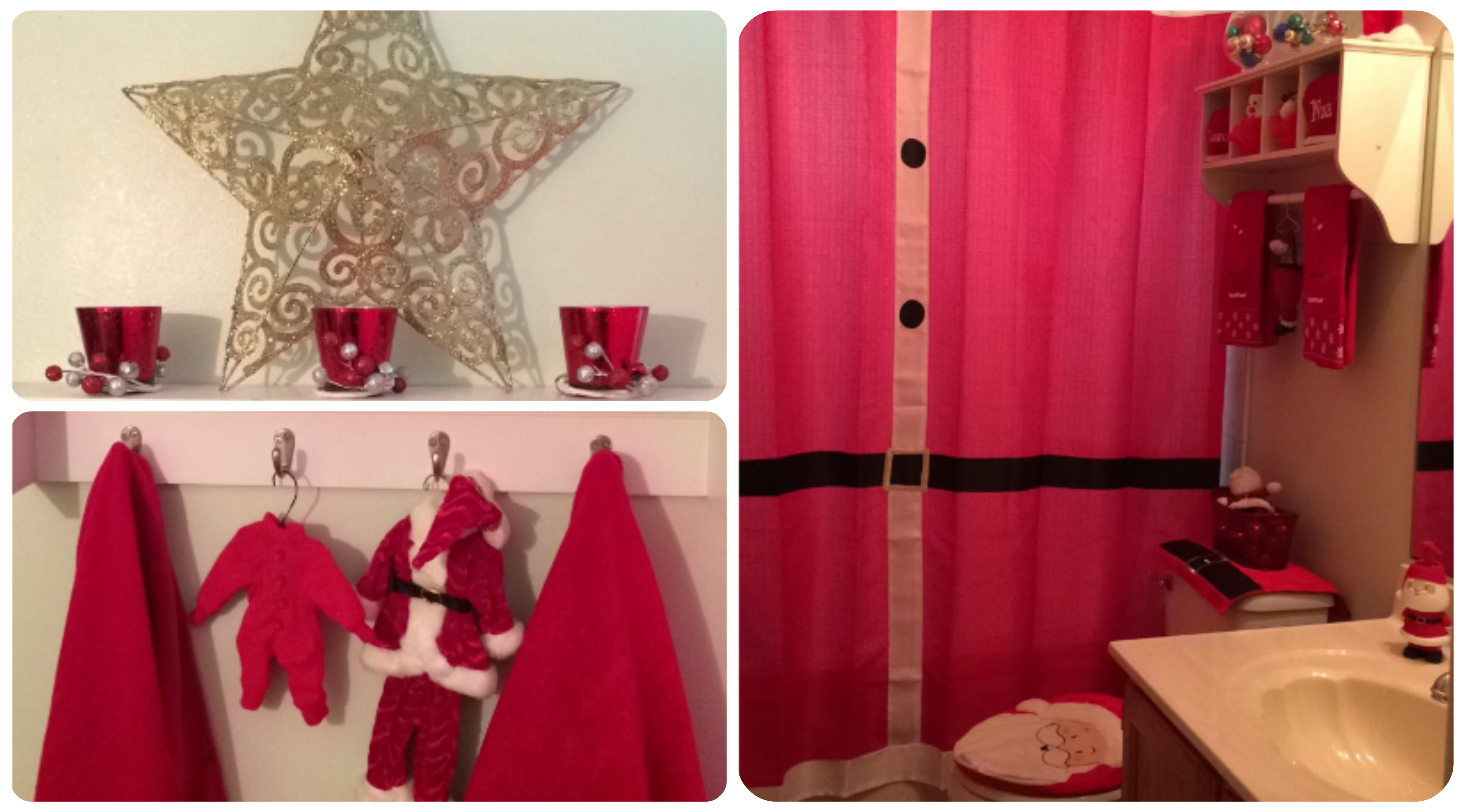 [Christmas Santa Bathroom Decor]